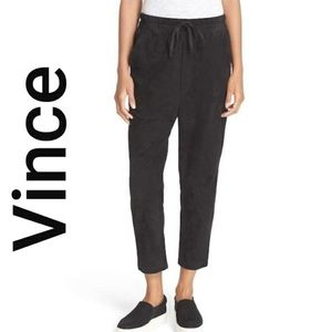 Vince Suede Jogger Track leather pants